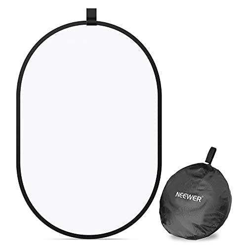 Neewer Fotografie Studio Licht Reflektor Pop-Out Klappbarer Diffusor Weich Disc Ring mit Tasche zum Tragen für Studio und Porträt Outdoor Fotografie Produkt Videoaufnahme (23,6 x 35 Zoll)