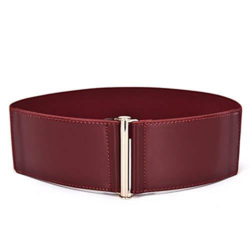 Cinturón De Las Mujeres Modernas Sencillo Charol Casual Elástico De Cintura Abrigo...