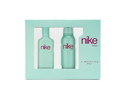 Nike A Sparkling Day, Estuche de Regalo para Mujer, Eau de Toilette 75 ml y Desodorante Spray 200 ml