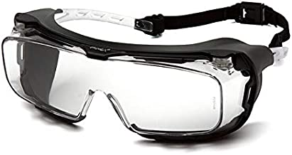 Pyramex Cappture Over Prescription Safety Glasses, Clear H2MAX Anti-Fog Lens w/Rubber Gasket