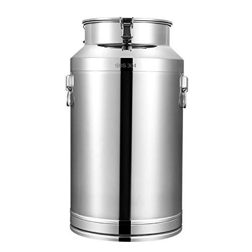 Contenitore in acciaio inox 304, fermentatore in acciaio inox, sigillato, per la conservazione della farina, per il trasporto ermetico, per vino, commestibile, confezione da 58 l
