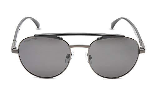 Fastrack Polarized Round Men's Sunglasses - (M211BK3P|54|Black Color Lens)