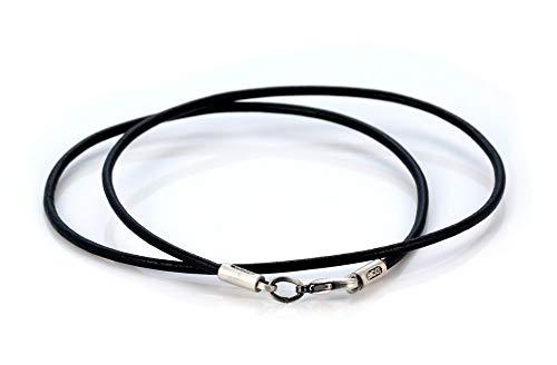 Bico Collar de Cuero Negro de 2mm (CL8 Negro 45cm) Surf Tribal Joyeria