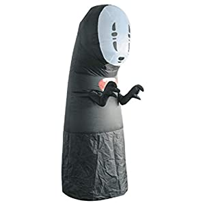 Adult No Face Man Inflatable Costume Black Blow up Suit Black Inflatable Jumpsuit Anime Halloween Funny Fancy Dress