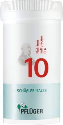 Pflüger Schussler Zouten Nr. 10 Natrium sulfuricum D6, 400 stuks