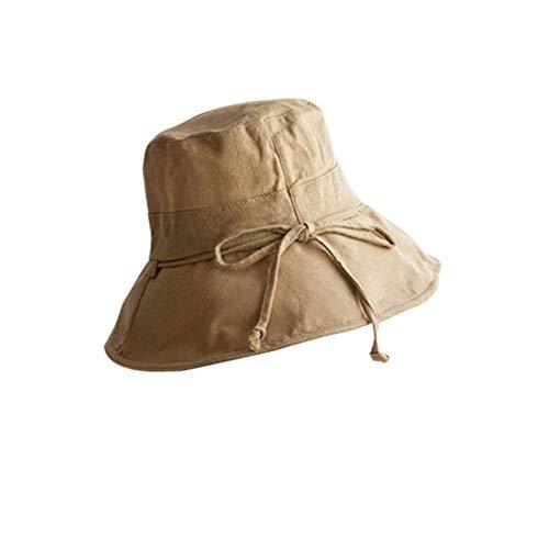 Sombrero De Pescador Sombrero De Playa para Mujer Diseño De ala Ancha Protección UV Sombrero Plegable Sombrero De Pescador