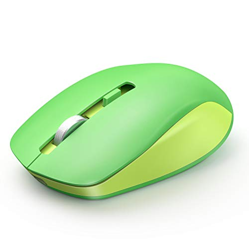 Wireless Mouse, seenda 2.4G Wireless Computer Mouse with Nano Receiver 3 Adjustable DPI Levels, Portable Mobile Optical Mice for Laptop, PC, Chromebook, Computer, Notebook (Green)