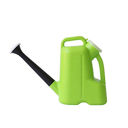 Pequeña regadera Lata de riego plástica, regadera de plástico con caño Largo, for Plantas de jardín de Casas Interiores al Aire Libre (3L / 5L) Regadera para Plantas (Color : B, Size : Medium)