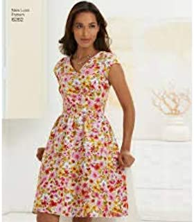 Simplicity Creative Patterns New Look 6262 Misses' Dress with Neckline Variations, A (10-12-14-16-18-20-22)