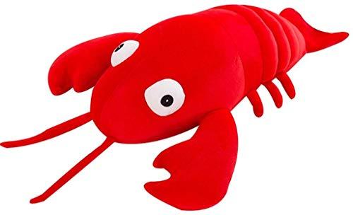 MRWJ Peluches Almohada de Cangrejo de Peluche Almohada de Peluche de gambas de Animales Marinos Lindo Cojín de Juguete para niños Adultos (Color: Rojo, Tamaño: 60cm)