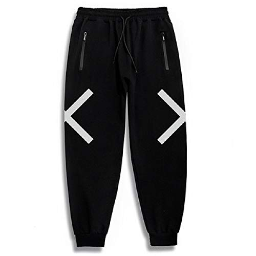Pantalons pour Hommes Reflective X Decorative Plus Size Guard Pants Sports High Waist Casual Long Pants for Workout, Gym, Jogging, Running