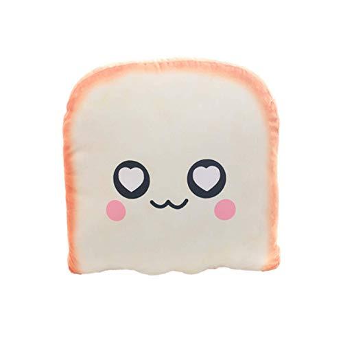 DAMAIJSQ Food Plush Pillow Cushion Soft Stuffed Bread Toast Toys Birthday Funny Lifelike 3D Bread Shape For Home Decor 30Cm