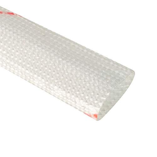 sourcing map Glasfaser Hülle 12mm I.D.PVC Isolierung Schlauch 1500V Rohr 125 Grad 885mm 2.9ft de