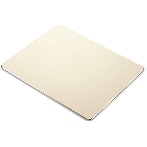 Metal Mouse pad Aluminum Alloy Mouse pad 9.6'x7.8' Medium Size Hard Smooth Thin Waterproof Fast and Accurate Control for Gaming Home and Office (Gold)