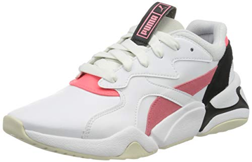 PUMA Nova Pop WN'S, Zapatillas para Mujer, Blanco White/Bubblegum/Ignite Pink, 38 EU