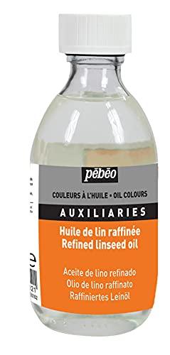 PEBEO - Olio Raffinato di Semi di Lino, 245 ml, Trasparente