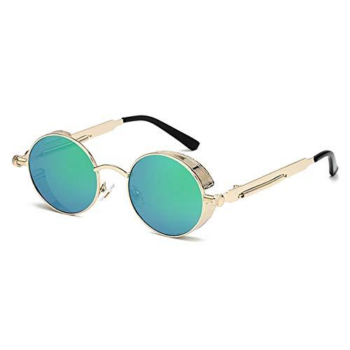 POO Gafas de Lentes Planas Reflectantes de Vidrio Liso con diseño Vintage práctico a la Moda, elección Actividades al Aire Libre