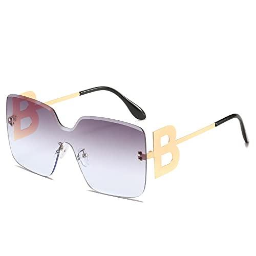 Gafas de sol fotocromáticas de gran tamaño de una sola pieza punk para hombres y mujeres que conducen gafas de sol con degradado Uv400 3
