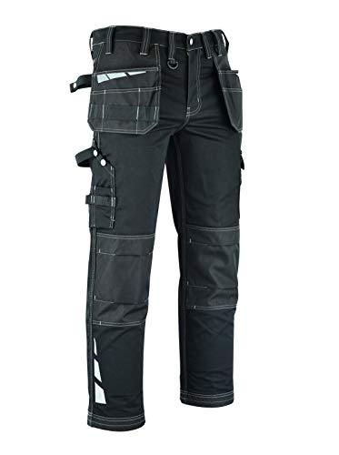 MS9 Pantaloni da Lavoro da Uomo Cargo Riflettente con Tasche Multifunzionali e Ginoccho Cordura Tasche