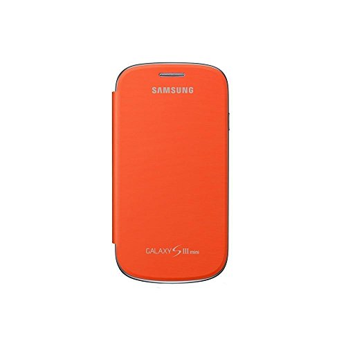 Samsung Original schützende Display-Klappe / Flip-Cover EFC-1M7FOEGSTD (kompatibel mit Galaxy S3 mini) in orange