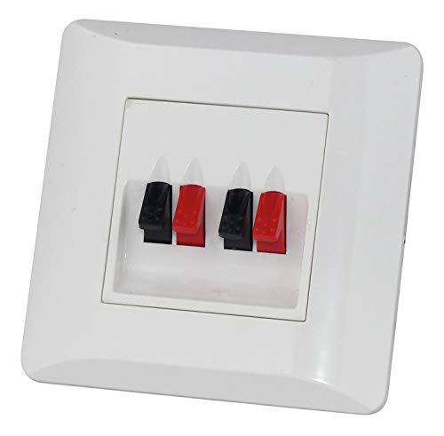 Dynavox Lautsprecher LS Wand Anschlußterminal II Unterputzmontage Anschluß Terminal Blende Boxen UP weiß 4 polig