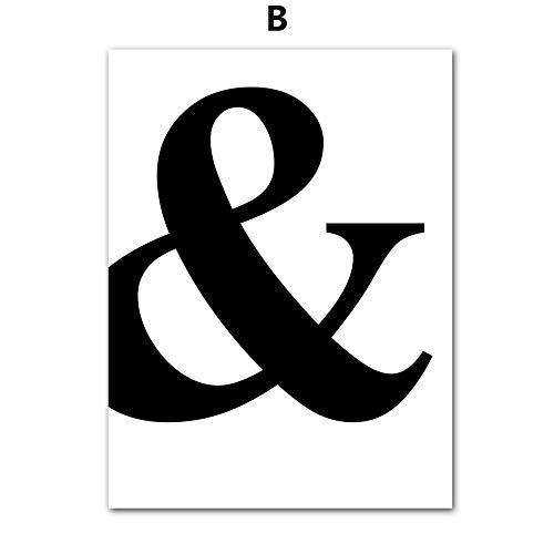 DLFALG Moderne minimalistische liefdescitaat brief muurkunst canvas schilderij poster en afdrukken zwart wit wandafbeeldingen voor woonkamer decoratie 50X70cm Ungerahmt B