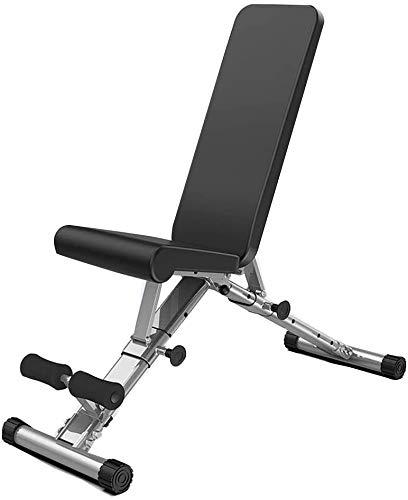 VIVOCC Banco de peso ajustable para sentarse y entrenar con mancuernas, máquina...
