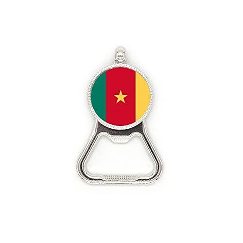 Flaschenöffner, Motiv: Kamerun-Flagge, Afrika, aus Metall, für Bierflaschen