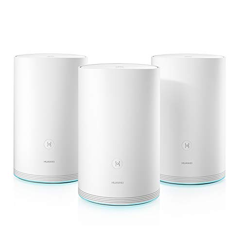 Huawei WiFi Q2 Full Mesh WLAN System (3er-Pack, WLAN-Abdeckung ohne Funkschatten im Haus, Büro und Wohung bis zu 360 m2, MU-MIMO, HUAWEI SmartHome APP, Guest WiFi, Parental Control) weiß