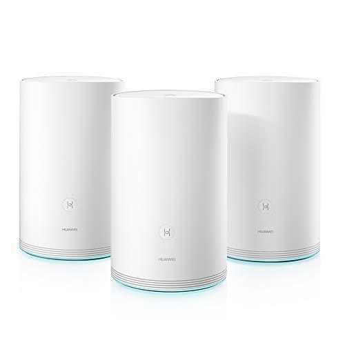 Huawei WiFi Q2 WLAN-Mesh-System [1167 Mbit/s, Dual-WLAN AC+N, 3x Gigabit Ethernet LAN]
