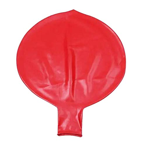 72 Zoll Latex Riese Mensch Ei Ballon Rund Climb-In Ballon für Lustiges Spiel - YWLINK Balloon Party Performance Requisiten Dekoration (Rot, 72 inch)