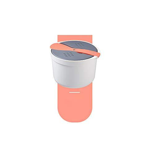 yui JUSHFO tragbarer Mikrowellen-Ofen, Reiskocher, Lebensmittel-Dampfgarer, PP, Mikrowelle, Kochutensilien, Isolierung, Bento, Lunchbox, Küchenwaren, ganzes Set (Farbe: Orange)