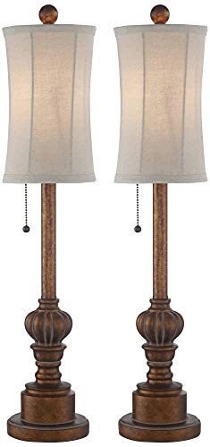 "Bertie 28"" High Tall Buffet Table Lamps Set of 2"