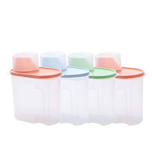 Zxl plastic doos met meetbeker, gevat, huishoudelijke opslag, wassen, plastic tank, waspoeder opbergdoos, grote capaciteit doos