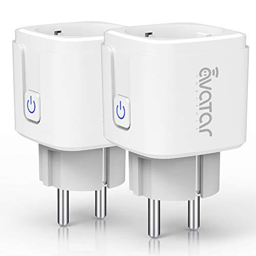 Wlan Smarte Steckdose, Alexa Smart Plug Avatar Controls Smart Home Steckdosen funktionieren mit Google Home, auf NUR 2.4 GHz Netzwerk(2 Pack)