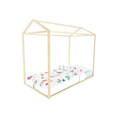 Kit | Estructura en Forma de casa de Madera para Cama Individual Montessori