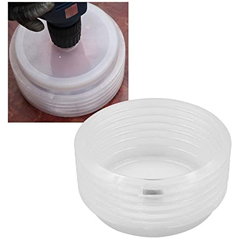 Colector de cubierta de polvo de taladro escalable de silicona para martillo eléctrico taladro de impacto Ash Bowl dispositivo a prueba de polvo herramienta eléctrica