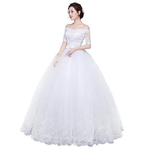 Vestidos de Novia Mujeres fuera del hombro Croset vestidos de novia piso...