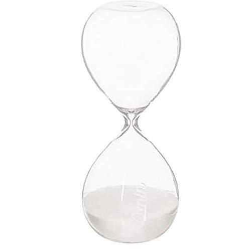 Reloj de Arena Decorativo Clásico 30 min, Decoración Original 20x8,5 cm (Negro)