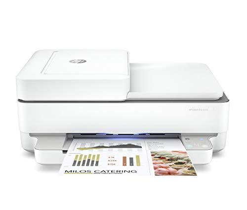 HP Envy Pro 6455 Wireless All-in-One Printer | Mobile Print, Scan & Copy | Auto Document Feeder (5SE45A) (Renewed)