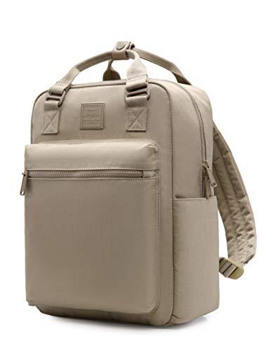 254s Rucksack für Mädchen & Frauen, minimalistische Laptop-Büchertasche für Arbeit, Schule, Reisen, College, mit 6 Innenfächern, Khaki