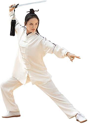 HLZY Uniformes Tradicionales Chinos de Tai Chi Kung Fu Las Artes Marciales se adaptan a la Ropa de Manga Larga de la Manga Larga del Uniforme de Tai Chi Tradicional Chino con diseño de Malla