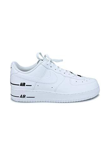 Nike Air Force 1 '07 Lv8 3, Zapatilla de Baloncesto para Hombre, Blanco/Blanco/Negro, 42 EU