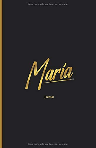 Cuaderno para Escribir Personalizado Maria Regalo Hermoso Bonito: Rayas Lisas Sin anillas Diseño Original Bonito Actual