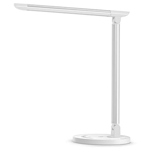 TaoTronics LED Desk Lamp, Eye-caring Table Lamps, Dimmable Office Lamp with USB Charging Port, 5...