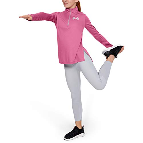 Under Armour Mädchen Langarmshirt Tech 1/2 Zip, Rosa, YXL, 1327854-669
