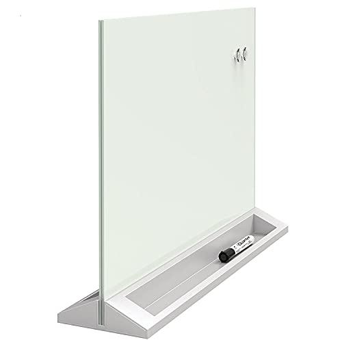 Quadro Branco Magnético Vidro com Divisória para Mesa, Quartet, Multicolorido, 58 x 40 cm