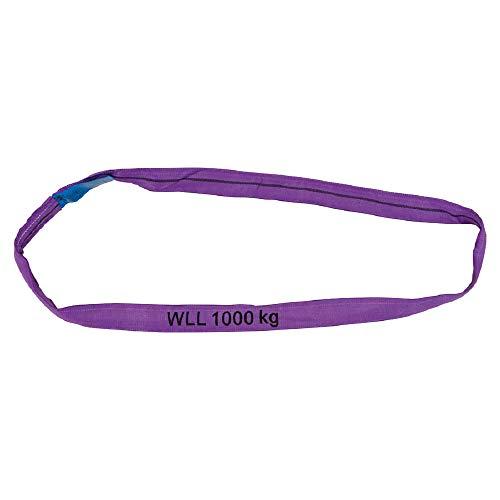 Petex 47201024 Rundschlinge WLL 1.000 kg, Länge 1 m, Umfang 2 m, Violett