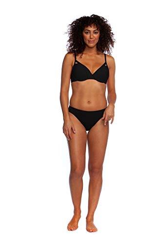 La Blanca Women's Island Goddess Solid Hipster Bikini Swimsuit Bottom, Black, 6