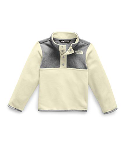 The North Face Toddler Glacier 1/4 Snap, Vintage White/TNF Medium Grey Heather, 5T